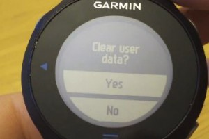 Garmin Forerunner 610 – How to Reset