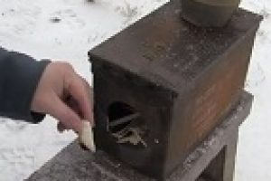 Winter Camping With An Ammo Can Wood Stove