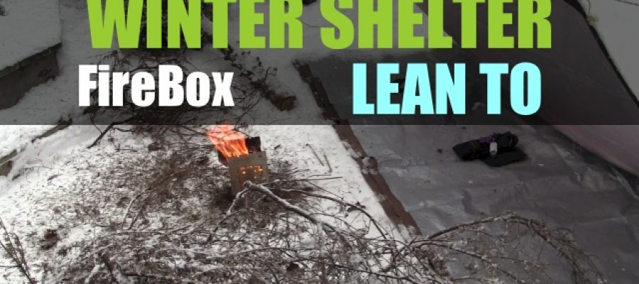 Winter Shelter with Firebox Wood Stove