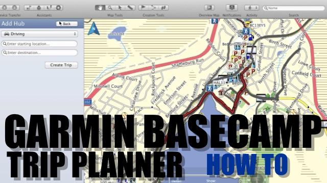 Garmin Basecamp Trip Planner