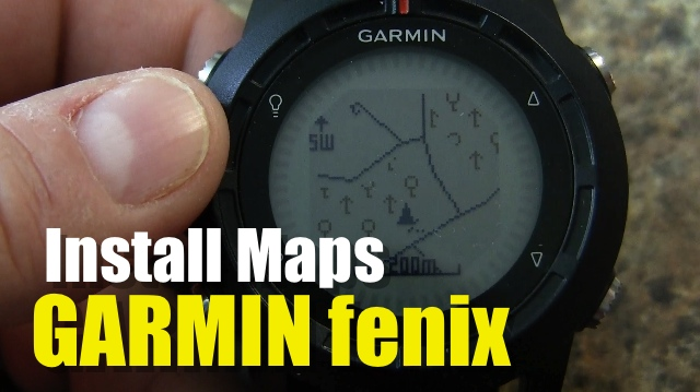Garmin fenix – How To Install Maps