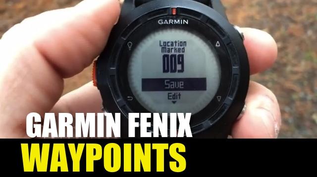 Garmin fenix / tactix – How to Create & Navigate Waypoints