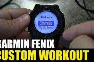 Garmin fenix – Custom Workouts