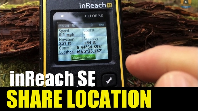 Garmin inReach SE – How to Share Your Location