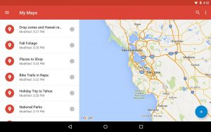 It's not as clear, but from Google Maps, you can reach MY MAPS to get started.