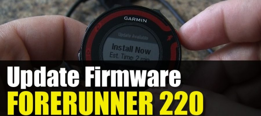 Garmin Forerunner 220 – How To Update Firmware