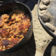 Cooking Outside Jerk Chicken & Rice in Cast Iron Dutch Oven