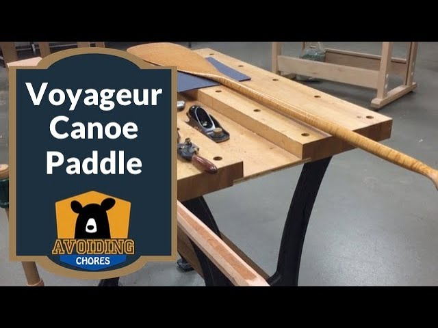 Carving A Cherrywood Voyageur Style Canoe Paddle At Lee Valley Tools
