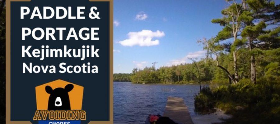Kayak Paddle & Portage Frozen Ocean to Big Dam At Kejimkujik Nova Scotia