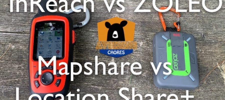 inReach Mapshare versus ZOLEO Location Share+